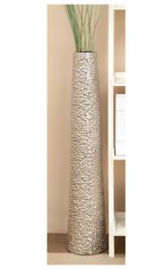 Tall Ceramic Floor Vase 40 Decorative Elegant Home Decor Cylinder Silver Gift Ebay
