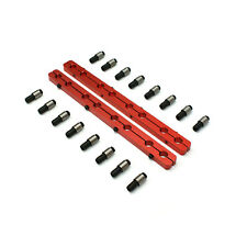 Chevy Sbc 350 Rocker Stud Girdle Kit Red With 38 Polylock Nuts