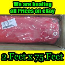 Banner 2 Feet X 75 Feet Roll25 Yards Red Vinyl Banner 13oz Hemmed And Gromm