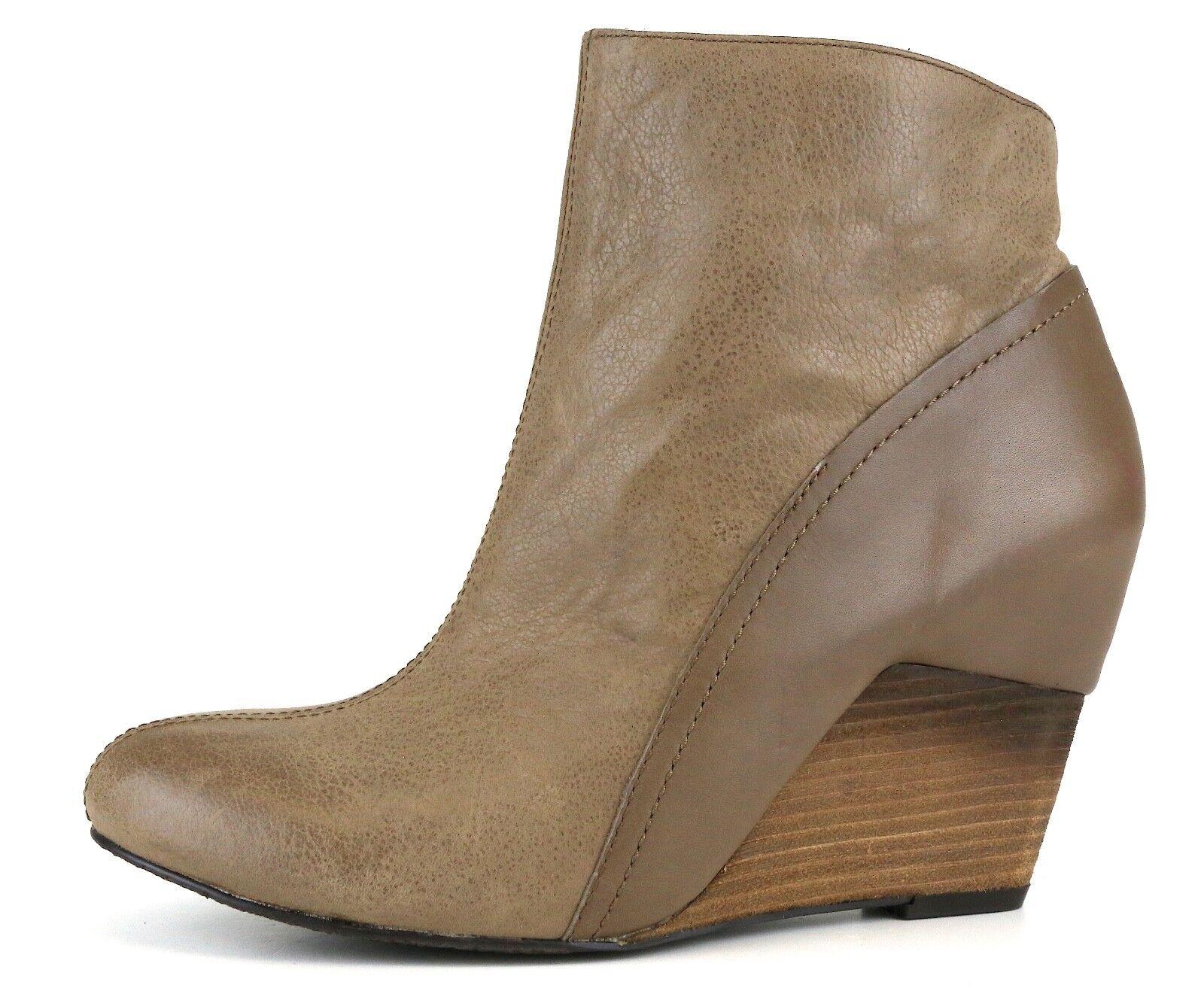Vince Camuto Hillari Pelle Boot Taupe Donna Sz 10 M 5446 *