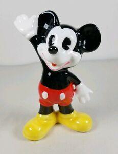 MICKEY-MOUSE-Disney-Figurine-Wave-Waving-Japan-Happy-Vintage-Cute-EUC-Red