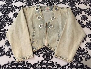 Iit International Acid Trends Denim Washed Jacket Vintage 80's Jean Image dwHFdf