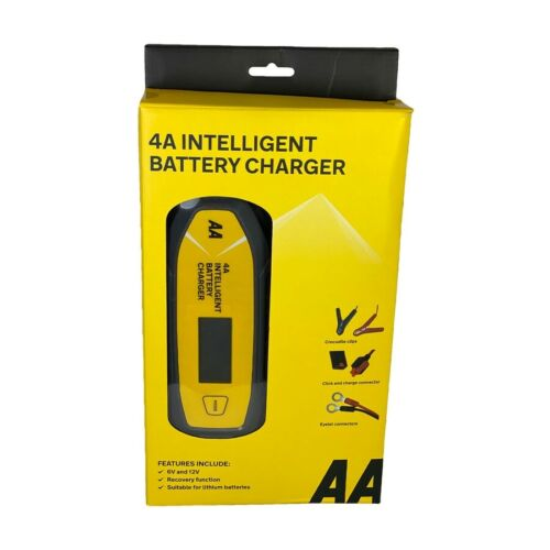 AA 4A Car Intelligent Battery Charger LCD Display Essentials Maintainer Official