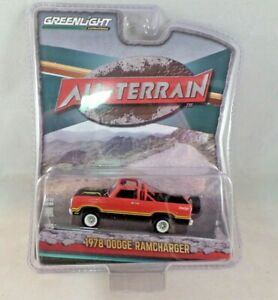 1//64 GREENLIGHT All-Terrain Series 1 1978 Dodge Ramcharger Custom Orange