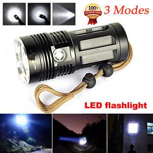 10000 Lumens CREE XM-L T6 9xLED Flashlight Torch Lamp 3 Modes 18650 Flashlight