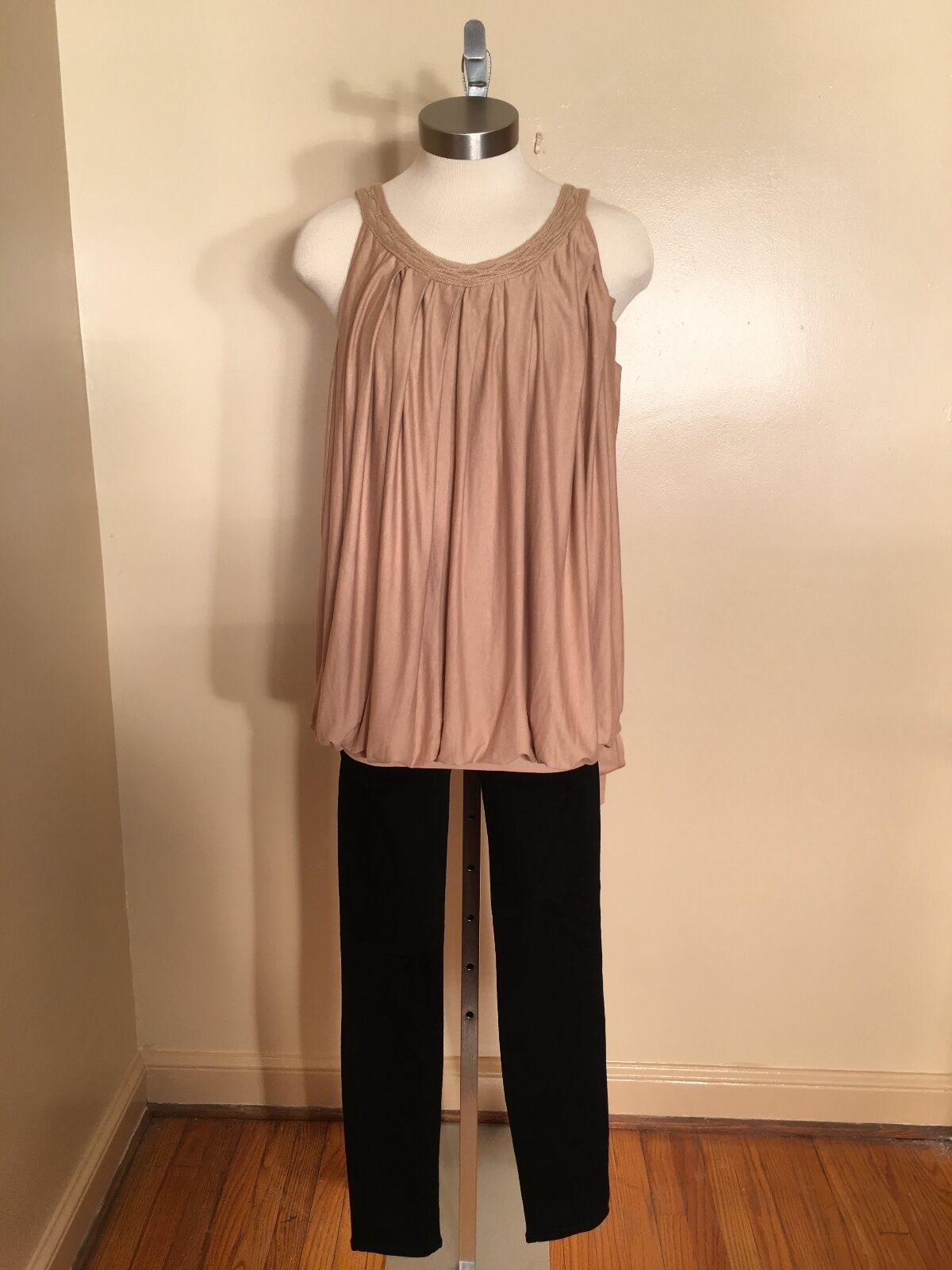 Women's Paige Ruched Nude color Retro Top Size XSmall