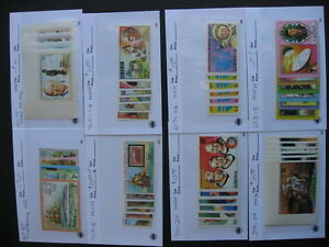 LIBERIA colorful IMPERFS 6 full 2 short sets done up in sales cards,worth a look