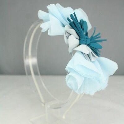 Chiffon Flower Ribbon Bow Headband Bridal Hair Accessories Headpiece Cute HB2272