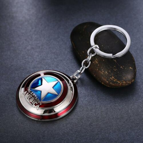 Captain America Shield Keychain Marvel Comics Movies Keyring Avengers Key Chain