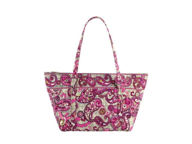 New Vera Bradley Miller Bag Purse Tote Travel Pool Beach Paisley Meets Plaid 475244a36e