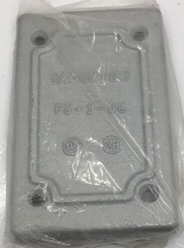 FS-1-BC O.Z.//GEDNEY BLANK MALLEABLE 1-GANG CAST DEVICE BOX COVER