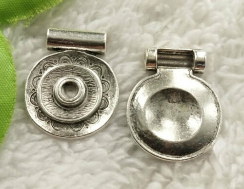 Free Ship 48 pcs tibet silver helix charms 28x22mm B4924