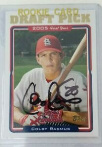 Colby-Rasmus-2005-Draft-Pick-Card-Topps-Signed-St-Louis-Cardinals