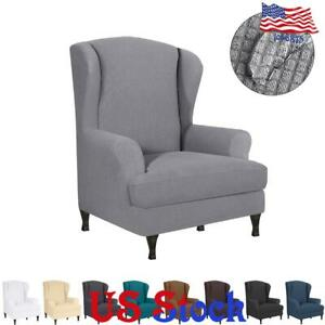 Stretch-Armchair-Slipcover-Wingback-Wing-Back-Chair-Cover-Waterproof-Home-Decor