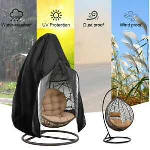 Swing-Hanging-Egg-Chair-Cover-Wicker-Stand-Hammock-Patio-Outdoor-Protect-zipper