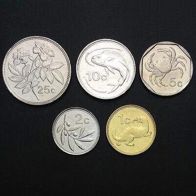 1991-2005 1 2 5 10 25 50 Cents+1 Lm M-1 Malta Set 7 Coins UNC