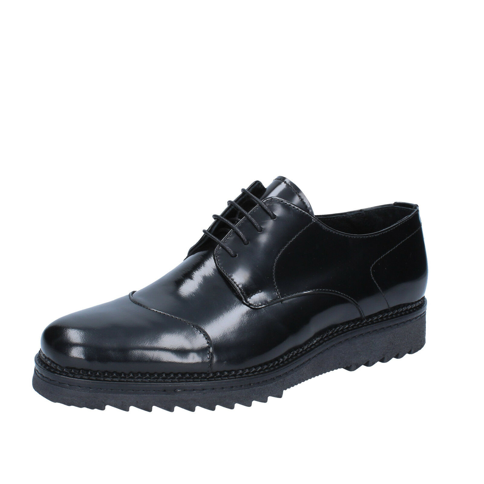 Men's shoes SALVO BARONE 11 (EU 44) elegant black shiny leather BZ171-44