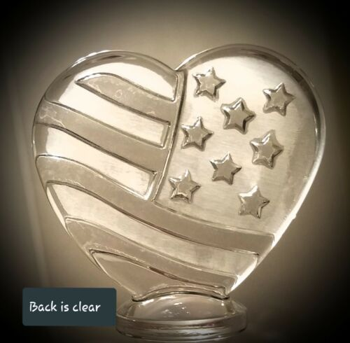 Love Wine Military 4th of July Lead Crystal Heart US Flag Wine Bottle Stopper