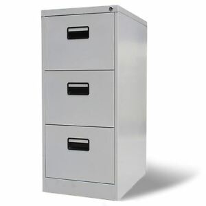 Image Is Loading 3 Drawer Metal Hanging File Cabinet Office Storage