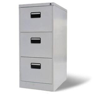Image Is Loading 3 Drawer Metal Hanging File Cabinet Office Storage
