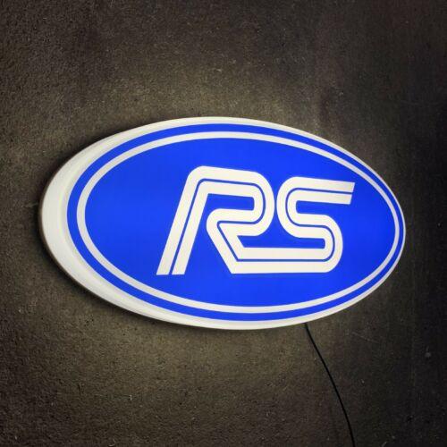 LED LIGHT GARAGE SIGN ILLUMINATING PETROL GASOLINE CAR LOGO ESCORT FIESTA RS ST