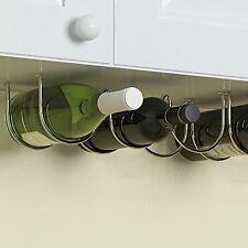 Under Cabinet Wine Rack and Liquor Bottle Holder Chrome Finish Kitchen Counte...