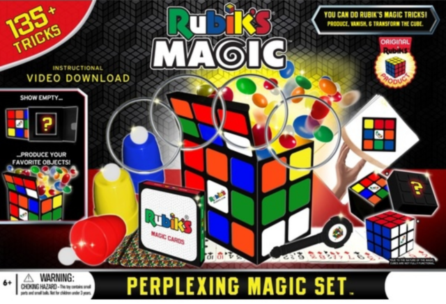 NEW Rubik's Perplexing Magic Set 135+ Tricks Gift Idea Family Party Kids Game!