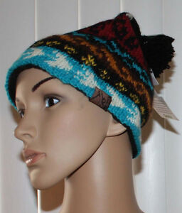 Turtle-Fur-Nepal-BIKO-Women-039-s-Multi-Colored-Hand-Knit-Beanie-Hat-OS-NWT
