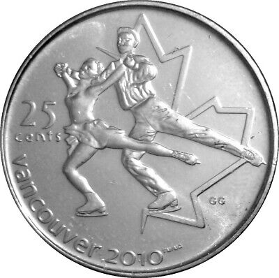 CANADA   25 Cents   2008   FIGURE SKATING   *
