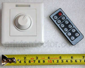 Details about 12v LED strip light DC high efficiency PWM dimmer w IR remote  8a 96w US seller