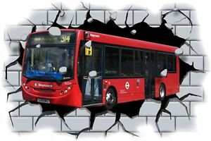 Huge-3D-Stagecoach-Bus-Crashing-through-wall-View-Wall-Sticker-Mural-Decal-111