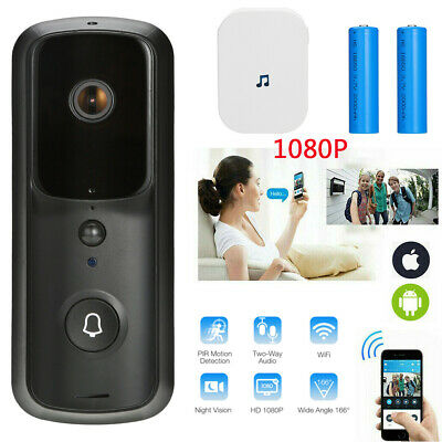 Wireless WiFi Video Doorbell Smart Phone Door Ring ...