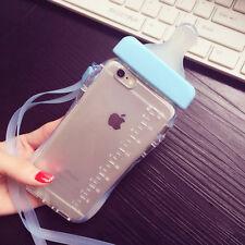 3d Baby Milk Bottle Blue Case Holder W/ Lanyard Accessories