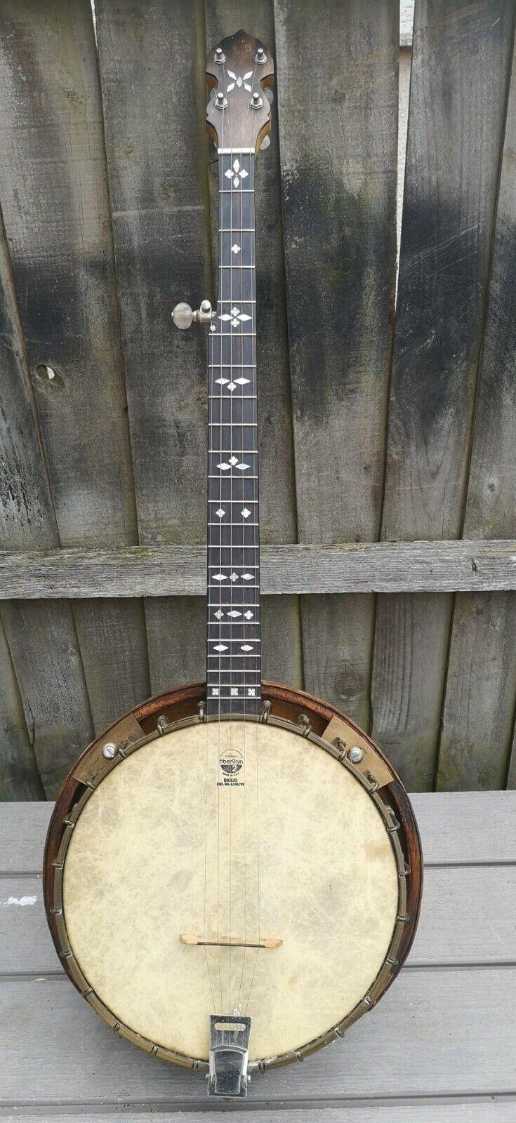 70s Rare Kettle of Wigton 5 String Resonator Banjo + Padded Bag