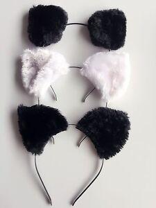 Women-Girl-kids-Fluffy-Fancy-Cat-Kitty-fox-Costume-Ear-Party-Hair-head-band-Prop
