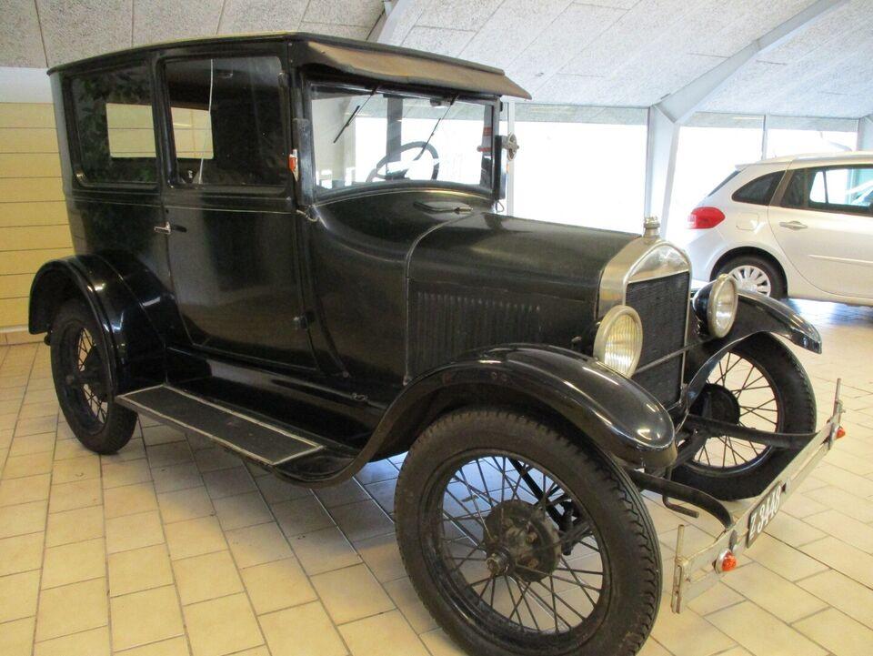 Ford T 2,9 Tudor Benzin modelår 1927 km 100000 Grøn