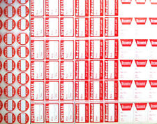 Price Stickers Mix Red White For Christmas Sale Retail Store Tags Labels