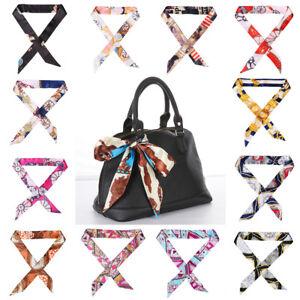 Decoration-Handle-Twill-Bow-Tie-Silk-Scarf-Bag-Belt-Strap-Floral-Headband