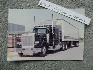 """6X4"""" 150X100mm CLASSIC PETERBILT 359 TURBOWING TRUCK TRUCKING PHOTO"""