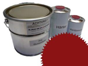 5-litros-Kit-2k-Pintura-RAL-3003-Rojo-Rubi-BRILLO-ninguna-Laca-Transparente