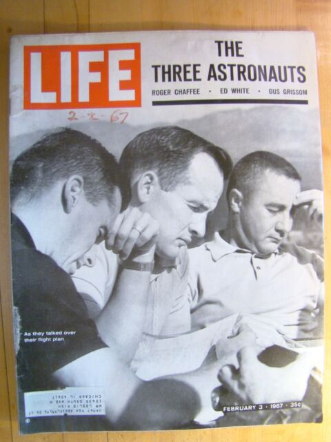 Life Magazine February 3 1967  Astronauts Chaffee White Grissom Flight Plan