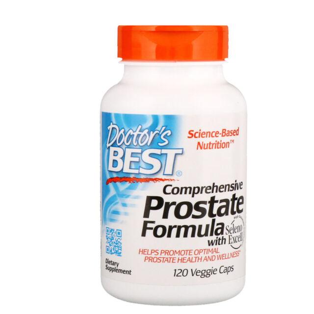 Doctor s Best Comprehensive Prostate Formula 120 Veggie Caps Gluten-Free,