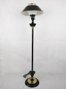Tole Ware Floor Lamp Mid Century Three