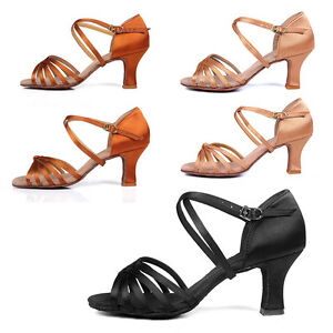 NEW-Professional-Women-Girl-lady-039-s-Latin-Ballroom-Tango-salsa-Dance-Shoes-heeled