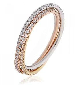 Image Is Loading Diamond Russian Wedding Band 1ct F Vs Brilliant
