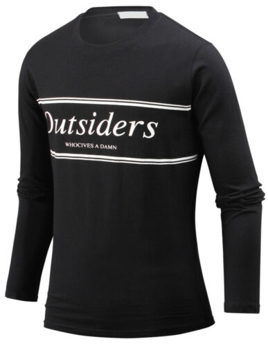 New Mens Stylish Outsiders Crew Neck Long Sleeve Tee T-shirt Tops Blouse W24 S//M