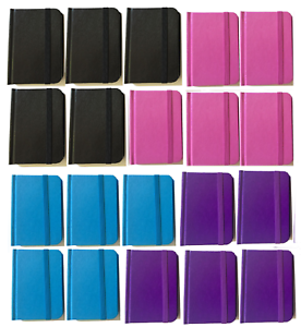 """Bulk Lot 20 Small Hardcover Pocket Notebook Journals 96 Pages 4.5 x 3"""" Ruled"""