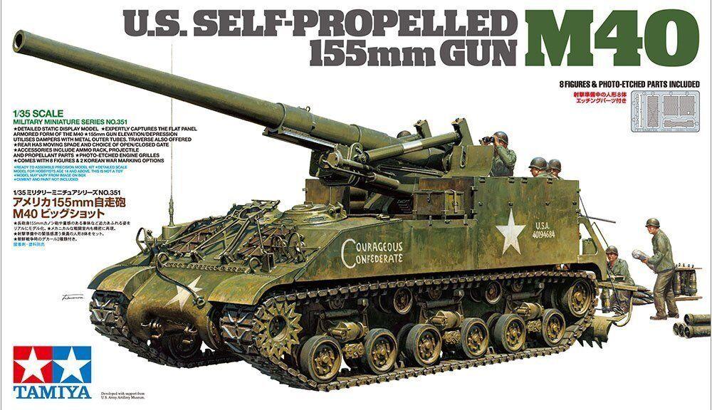 Tamiya 351  35 USA Självpropellerd 155mm Gun M40