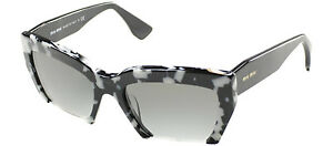 6535c6cf9d56 Miu Miu Rasoir MU 11OS PC73M1 Havana White Black Plastic Cat Eye ...
