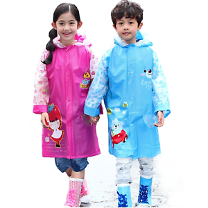 24532e44db5 Kids Boys   Girls PVC Hooded Raincoat Age 4 - 10 years Pink - Blue ...